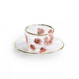 TAZZINA DA CAFFE' ROSES