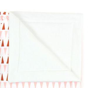 Nobodinoz COPERTA MINI 70x80cm Triangoli rosa e terracotta