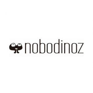 Nobodinoz POUF SOHO Sabbia e stelline bianche 76x26cm